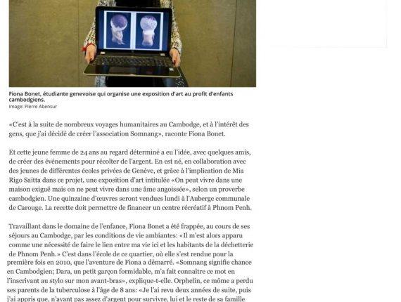 La Tribune de Genève - Somnang Association